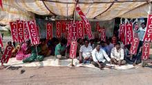 Municipal Labour Unions Strike in Mangalagiri
