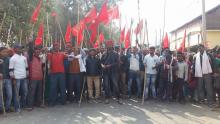 Protest at Agiaon, Bihar